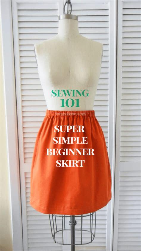 beginner skirt sewing tutorial shrimp salad circus