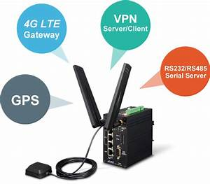 Industrial 4g Lte Cellular Gateway With 4 100tx  2