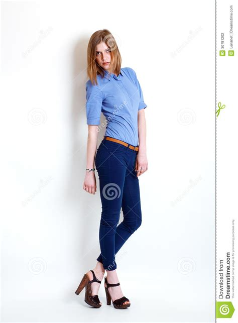 Girl In Fashion Stylish Jeans Stock Photography - Image 30781202