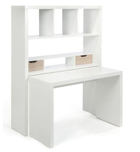 bureau gain de place design twisty bureau modulable avec étagères et tiroirs