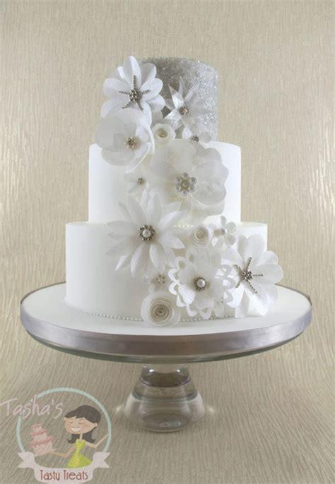 wafer paper flowers wedding cake cakecentralcom