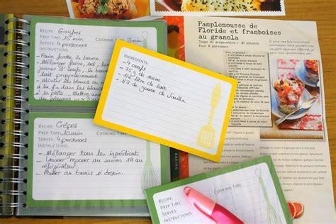 cahier de recette de cuisine faire cahier de recettes