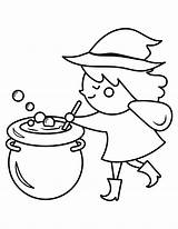 Coloring Cauldron Pages Witch Popular Printable sketch template