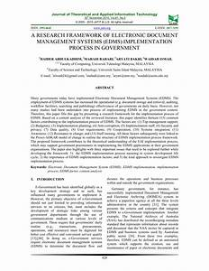 a research framework of electronic pdf download available With implementing a document management system