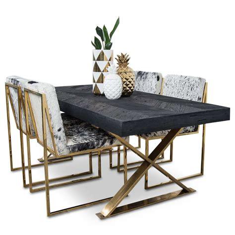 bordeaux dining table  brass  legs modshop