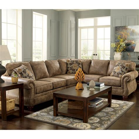 signature design by ashley larkinhurst 3 pc sectional laf
