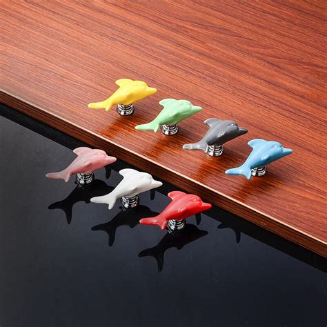 zenhosit colorful cartoon dolphin single hole handles