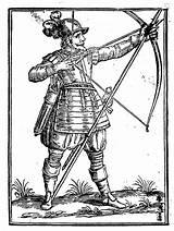 Archer Medieval Getdrawings Drawing sketch template