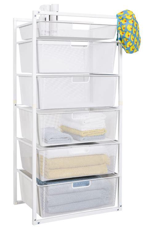 mesh drawer baskets white  tier  storage box