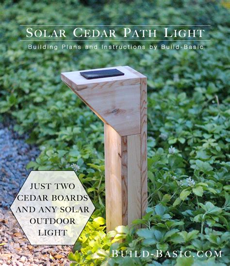 build a solar cedar path light build basic