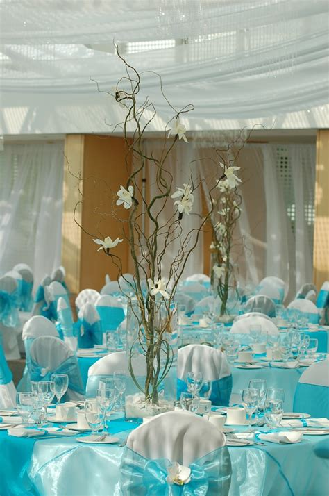 Blue Wedding Table Decor Wedding Flowers And Decorations