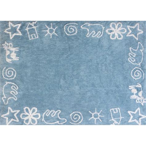 tapis enfant original doux et lavable en machine aratextil