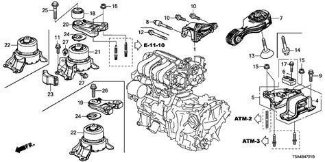 Honda Fit Diagram by 50852 T5r A01 Genuine Honda Weight Transmission Mounting