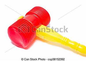 Stock Photographs of child's toy hammer isolated on white ...