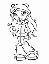 Coloring Teen Winter Fancy Drawing Bratz Outfit Season Pages Easy Zombie Drawings Netart Colorings Line sketch template