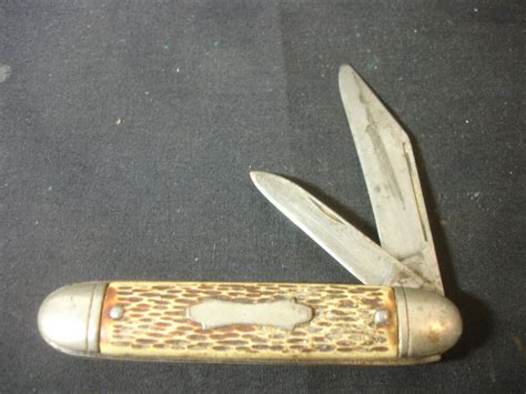 Knives Made In Usa by Vtg Collectible Two Blade Folding Pocket Knife Made In