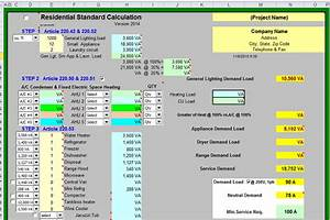 Residential Electrical Load Requirements Calculations