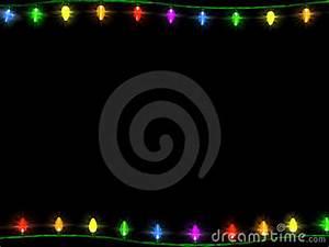 Christmas Lights Border 1 Stock Photos