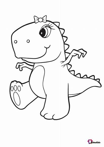 Dinosaur Pages Coloring Colouring Printable Cartoon Amazing