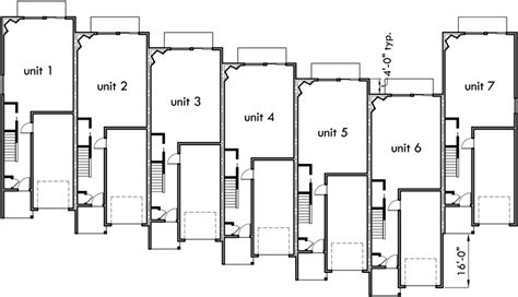 Appealing row houses design plans house plan fresh raw in india. Narrow Row House W/ Large Master & Open Living Area SV-726m