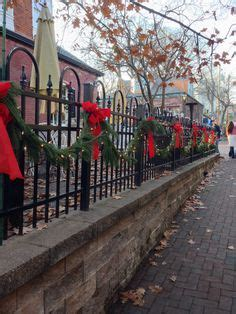 ideas for decorating iron fence posts for christmas wrought iron fence decorated for antiques decorating ideas outdoor