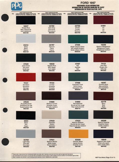 ford exterior paint code sh 1997 colors ford paint ranger