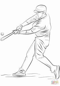 Baseball Player coloring page | Free Printable Coloring Pages