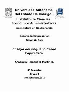Ensayo Peque U00f1o Cerdo Capitalista
