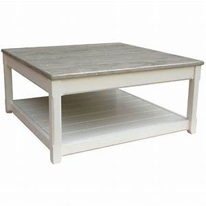 Cottage style coffee table for Square coastal coffee table