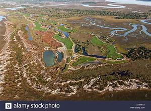 Aerial view of the Ocean Course in Kiawah Island, SC Stock ...
