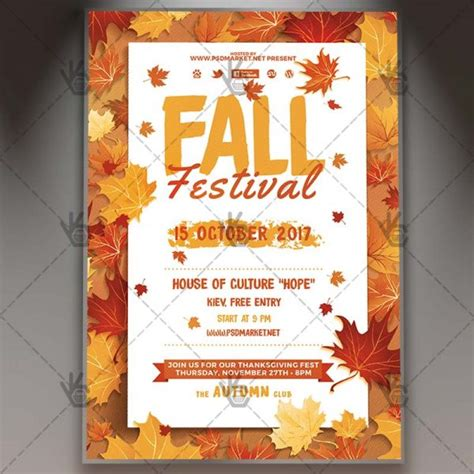 fall festival flyer template fall festival premium flyer psd template psdmarket