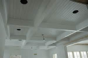Beadboard Coffered Ceiling