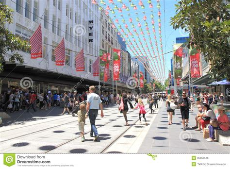 christmas shopping in melbourne editorial photo image