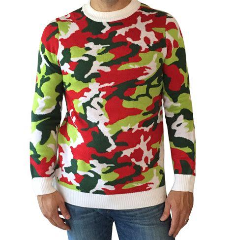 woodland christmas camo sweater ugly christmas sweaters