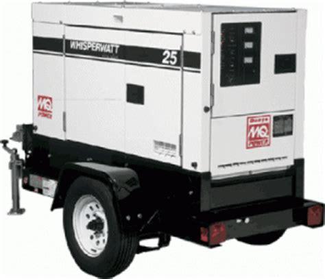 milwaukee generator rental towable generators  rent