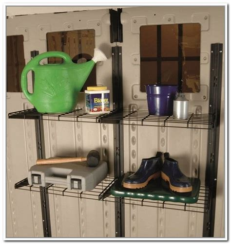 rubbermaid shed accessories suncast storage shed accessories with two adjustable wire