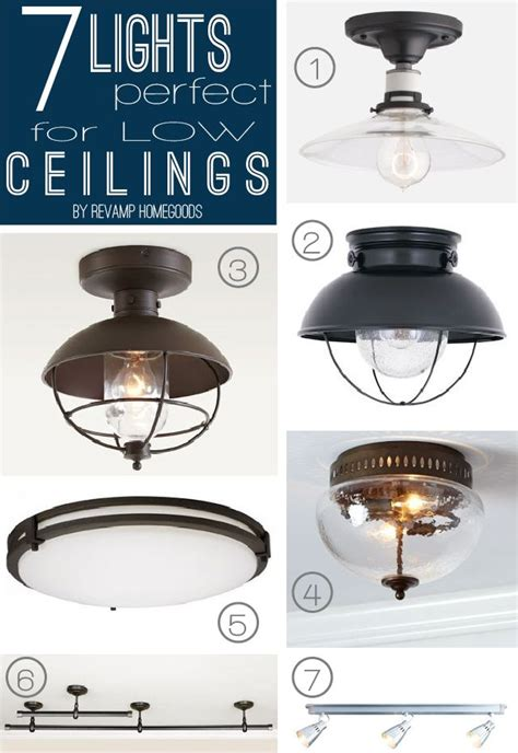 Kitchen Lighting Fixtures Ceiling by 7 Lighting Fixtures For Low Shallow Ceilings Decor