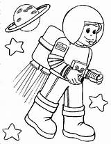 Astronaut Coloring Printable Mal sketch template