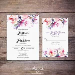 printable watercolor floral wedding invitation suite With watercolor flower wedding invitations free