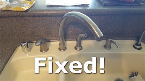 fix  leaky kitchen faucet spout youtube