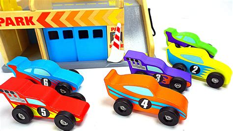 kid play car genevieve teaches kids with colorful cars and parking d