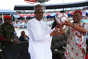 SEE Special Gift Orji Kalu Presented To Buhari In Aba ...