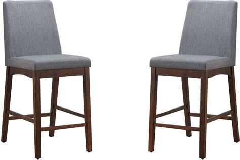 marten brown cherry counter height chair set of 2