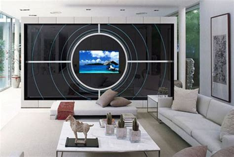 tv mirror wall unit multimedia mirror furniture  adnotam