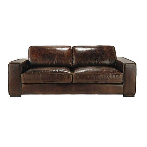rachat de canape en cuir canapé vintage 3 places en cuir marron colonel maisons