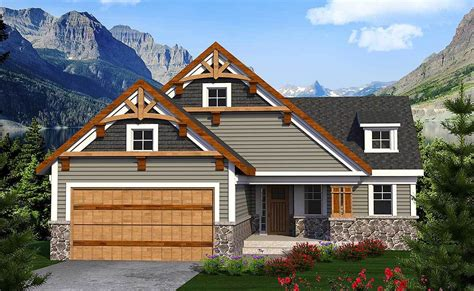 Craftsman Ranch for the Sloping Lot 89958AH
