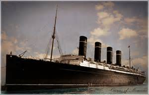rms olympic sinking rms lusitania alternative paint livery by rms olympic on