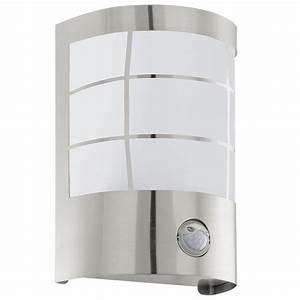 Außenleuchte Edelstahl Led : led aussenleuchte wandleuchte sensor edelstahl eglo ~ Watch28wear.com Haus und Dekorationen