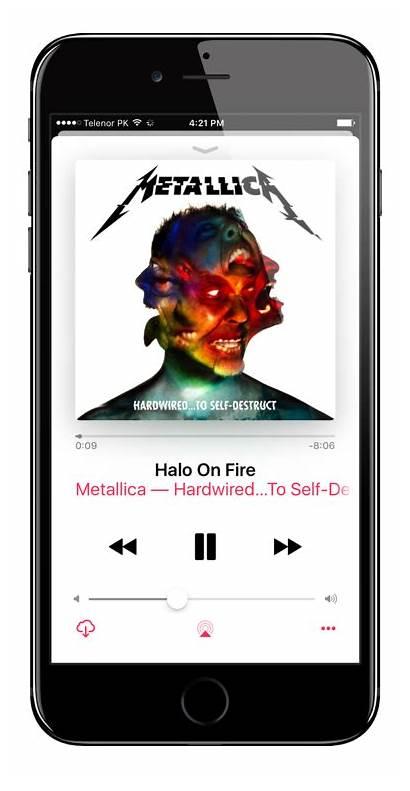 App Iphone Playing Song Lyrics Screen Ios