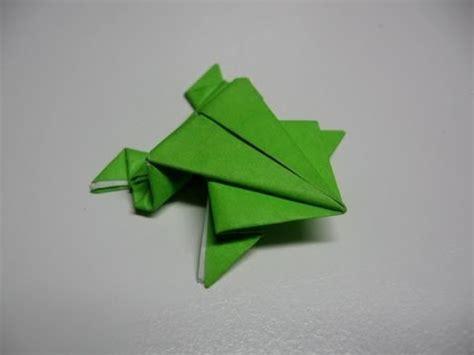 origami jumping frog easyfull hd youtube